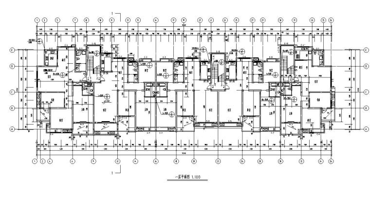 多层住宅楼建筑户型设计图