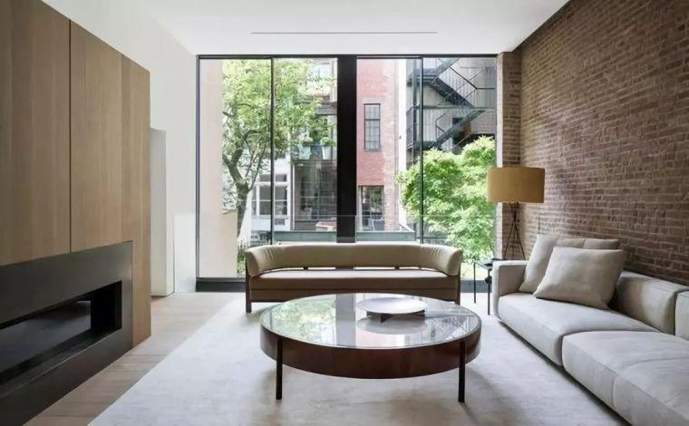 现代简约设计,留一面红砖墙让家更美!