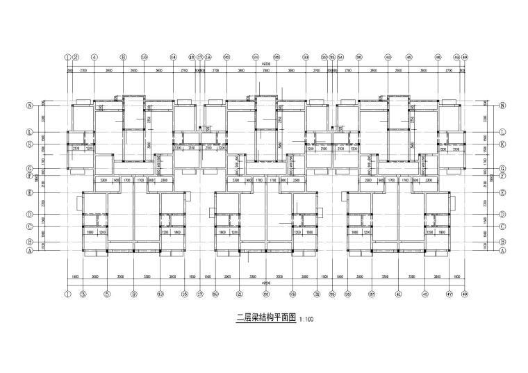 7层保障房住宅楼结构施工图纸(砖混结构)