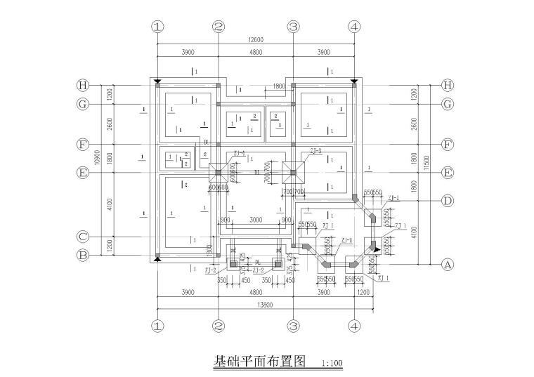 四层砖混结构别墅结构施工图