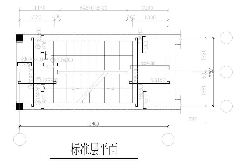 五层带阁楼砖混住宅楼结构施工图纸