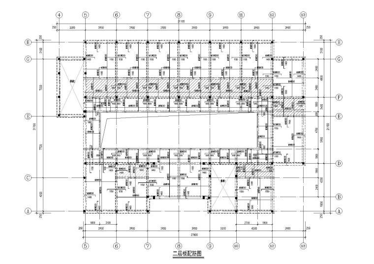 三层砌体结构食堂及宿舍楼结构施工图纸