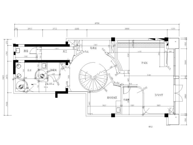 5一层隔墙尺寸图