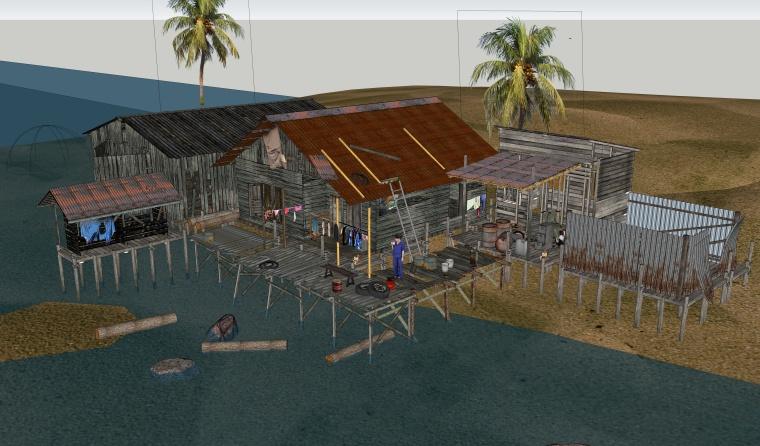 居住建筑SU模型设计(7)