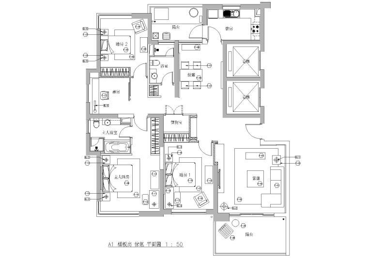 [上海]梁志天-联洋河滨城酒店式公寓施工图