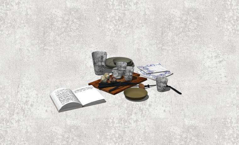 室内装修厨房用品SU模型设计(4)