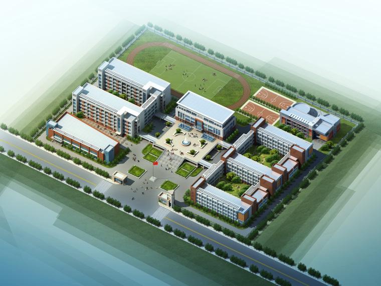 5400㎡学校建筑设计方案(附模型CAD效果图)