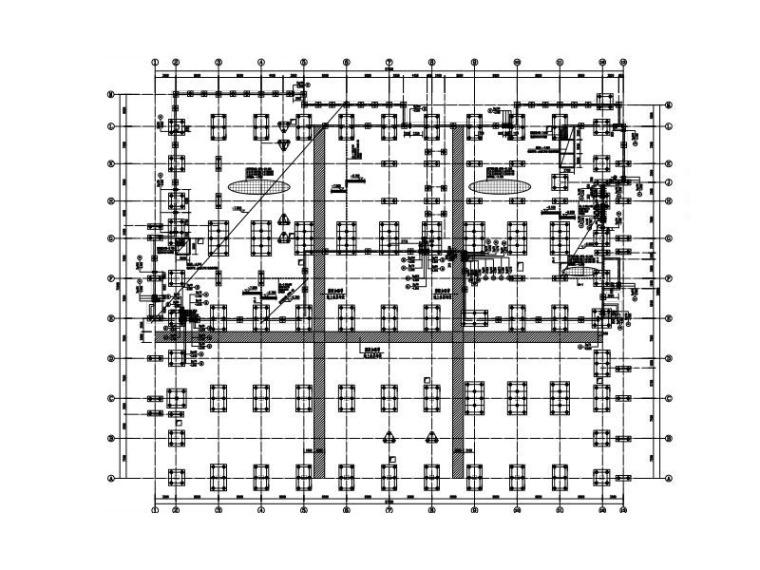 4层健身中心框架结构施工图(平面桁架屋盖)