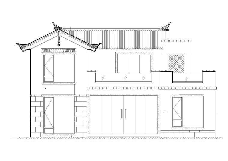 单家独院式二层别墅施工图