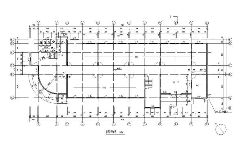 4层办公楼建筑户型设计图
