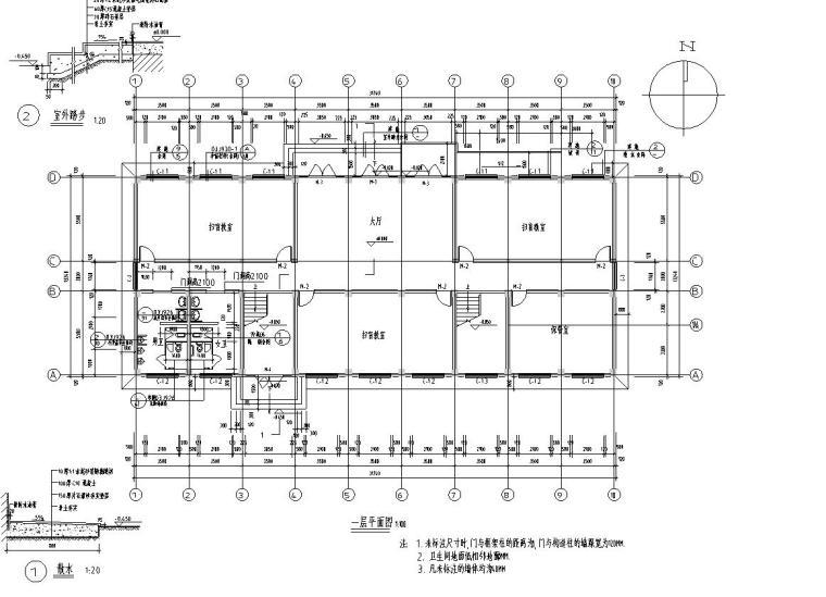 二十四层办公楼资料下载-长31.74米宽13.24米5层办公楼建筑施工图