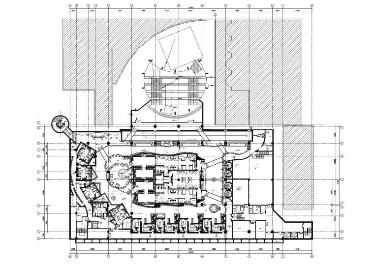 北京国际大酒店D型房,负一层SPA空间施工图