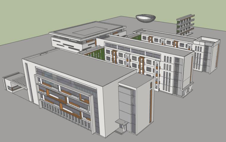 30班小学设计方案SU模型