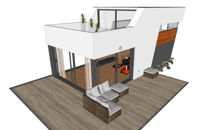 居住建筑SU模型设计(3)