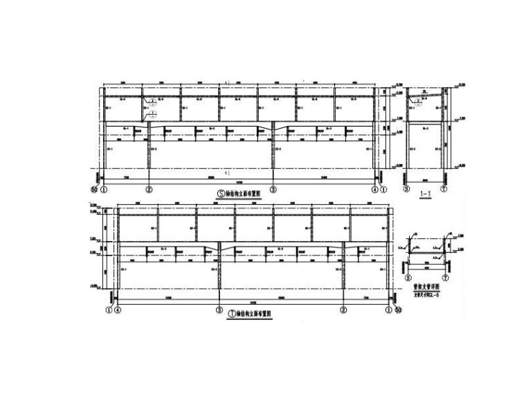 轻钢结构连廊招标图(含建筑结构图)