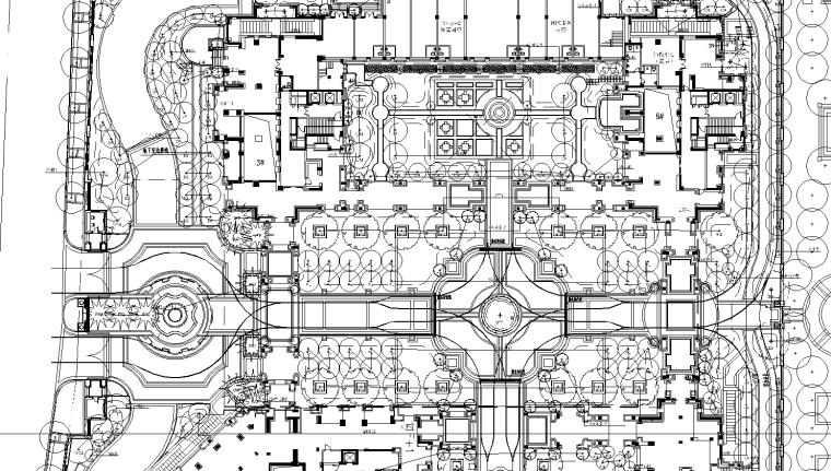 [浙江]杭州绿城新绿园植物CAD施工图、实景