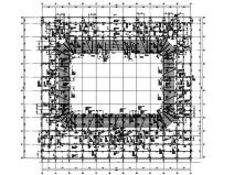 4層籃球館框架結構施工圖(平面桁架屋蓋)