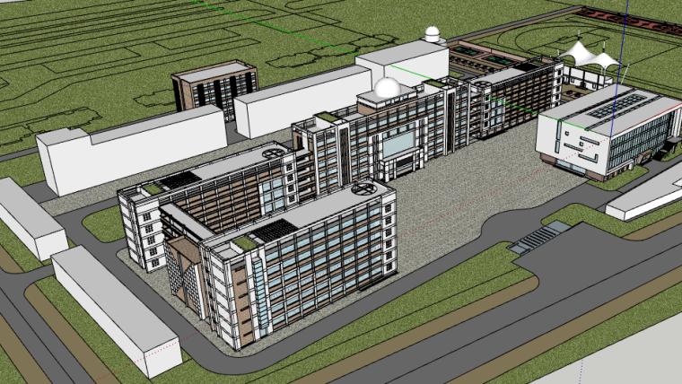 某中学详细规划设计建筑SU模型