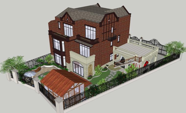 居住建筑SU模型设计(2)