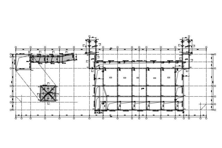 D座二层顶板配筋图