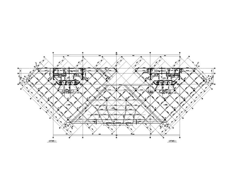 高低两栋框剪结构办公楼全专业施工图2014