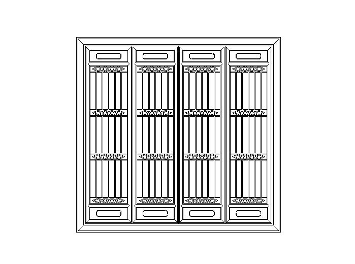 中国传统古建筑元素之门窗图块(CAD)