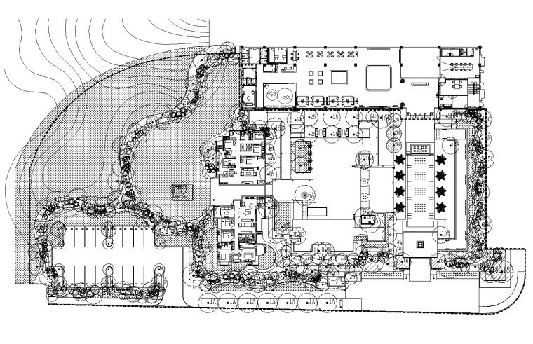 [北京]龙湖原著示范区植物配置CAD施工图