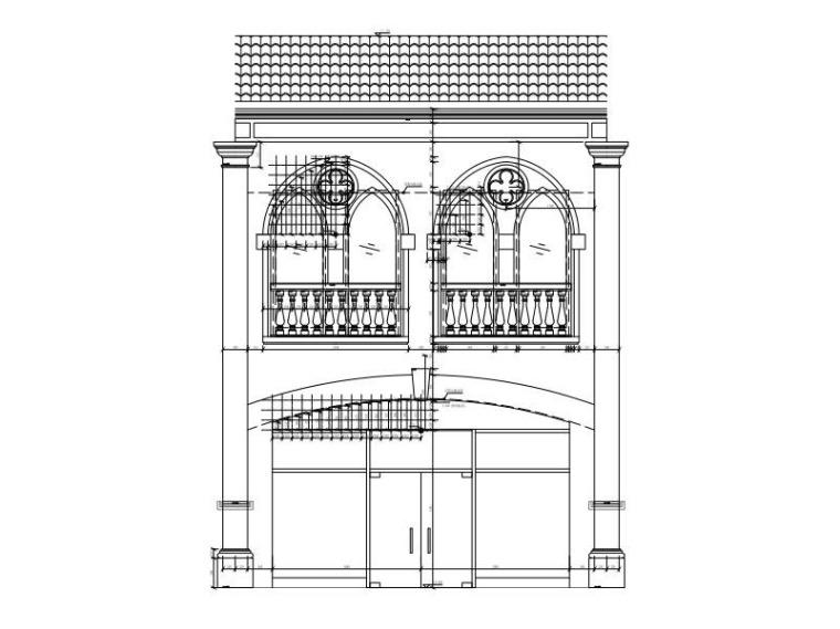 B座建筑立面图