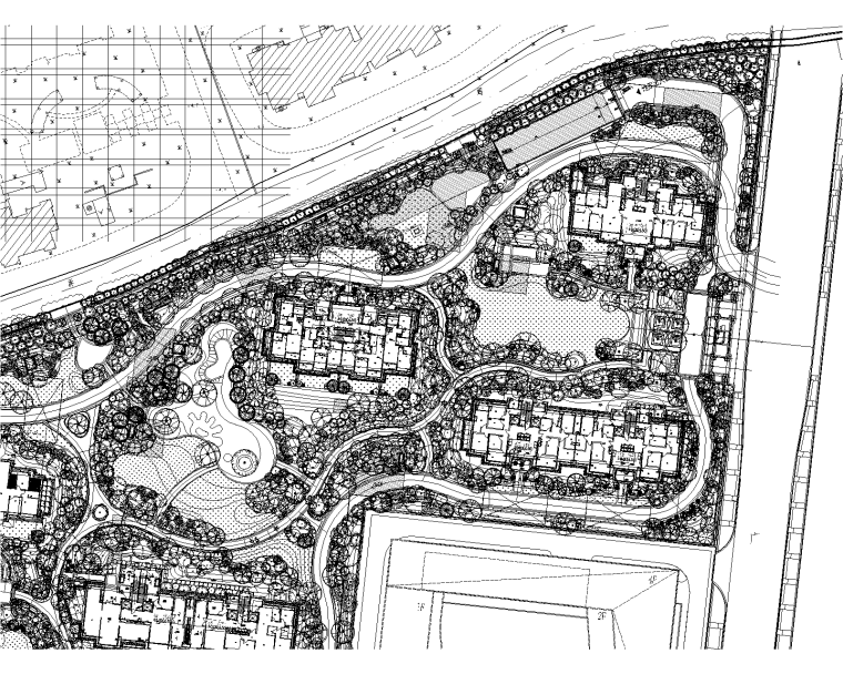 [上海]居住区金茂府植物CAD施工图+实景图