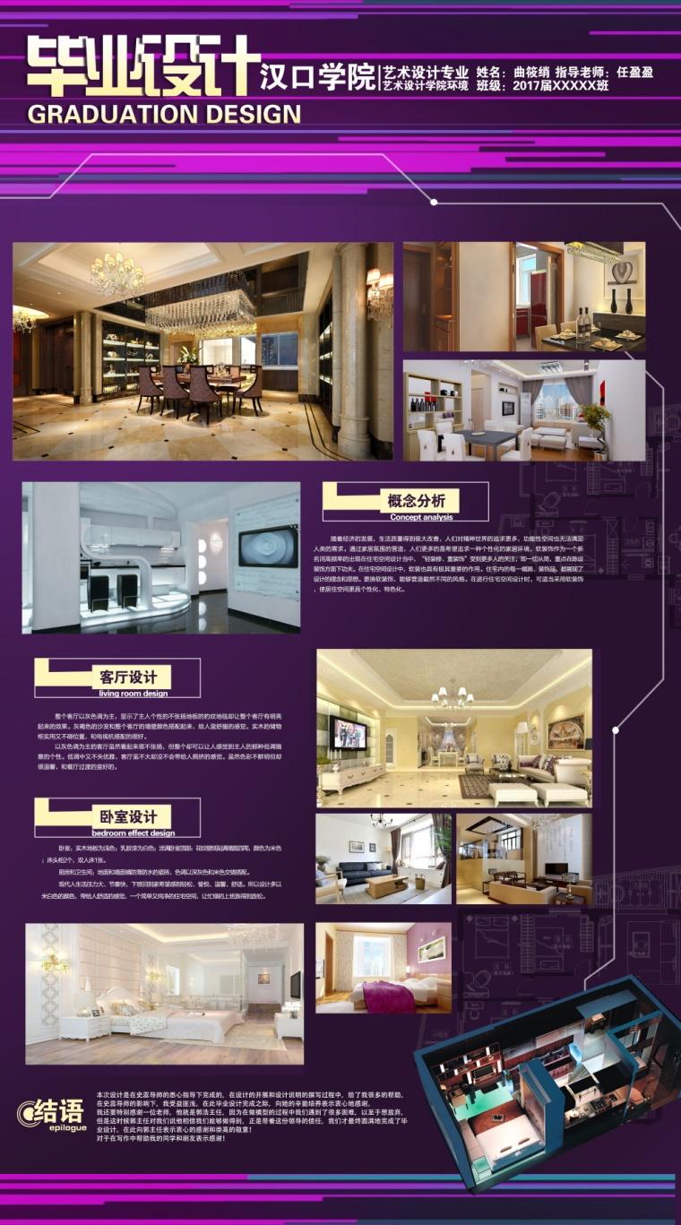 室内环艺毕业设计作品_住宅_LOFT公寓展板