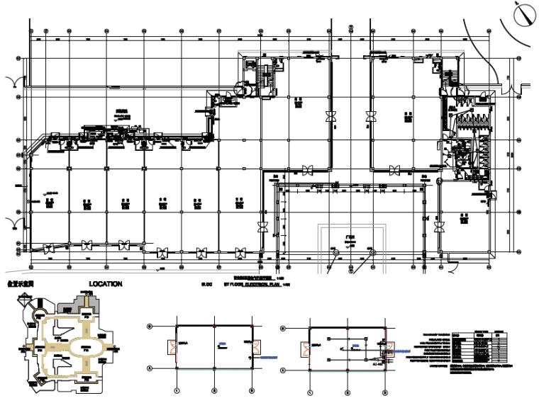 [知名院]成都大型商业购物街区电气施工图