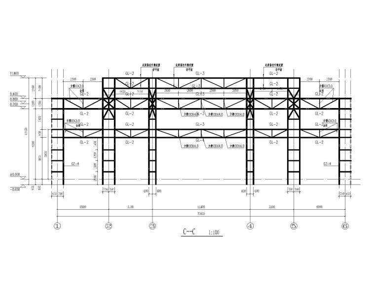 四川某售楼部钢结构桁架全套施工图(CAD)