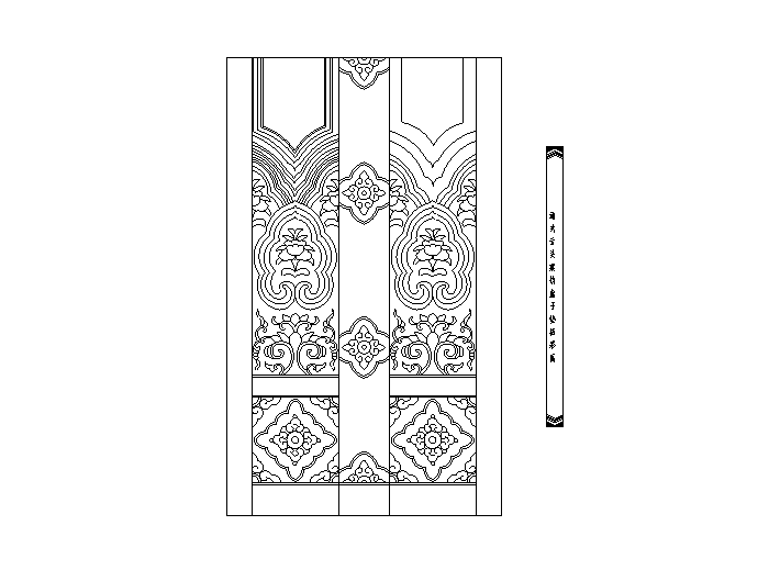 木制雕花图块(CAD)