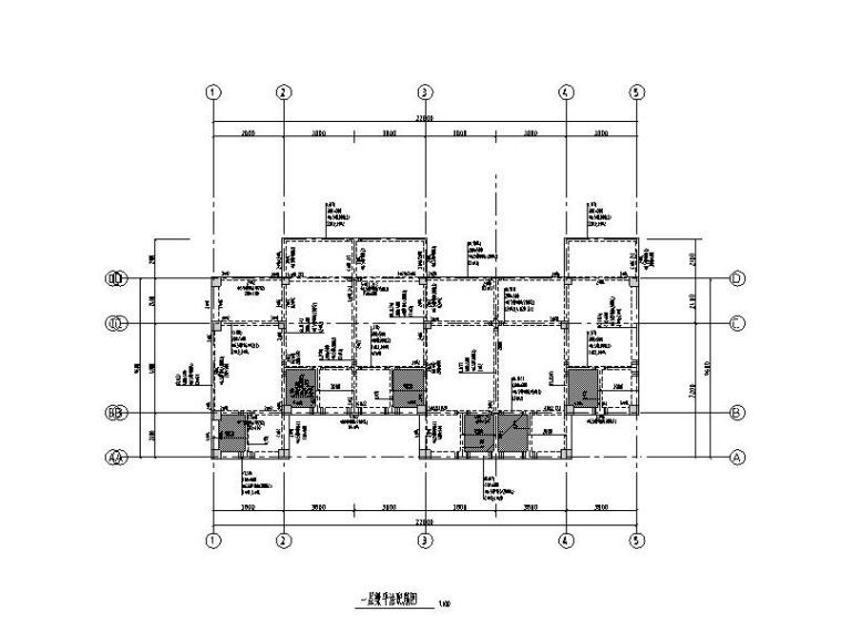 4层钢混框架结构住宅建筑结构施工图2015