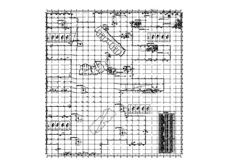 钢混框架结构人防地下车库建筑结构施工图
