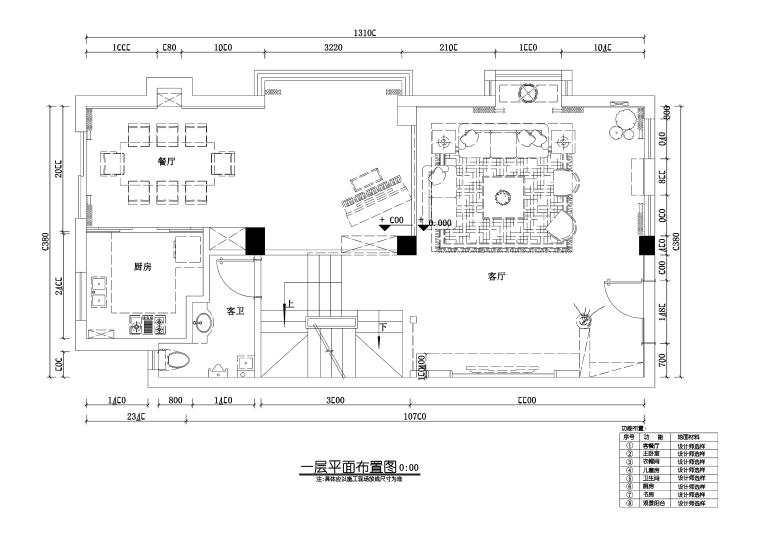 三层欧式风格别墅室内装修施工图+效果图