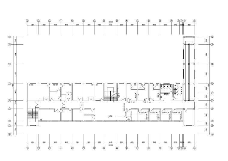 某乡镇医院电气施工图_紧急呼叫系统平面图