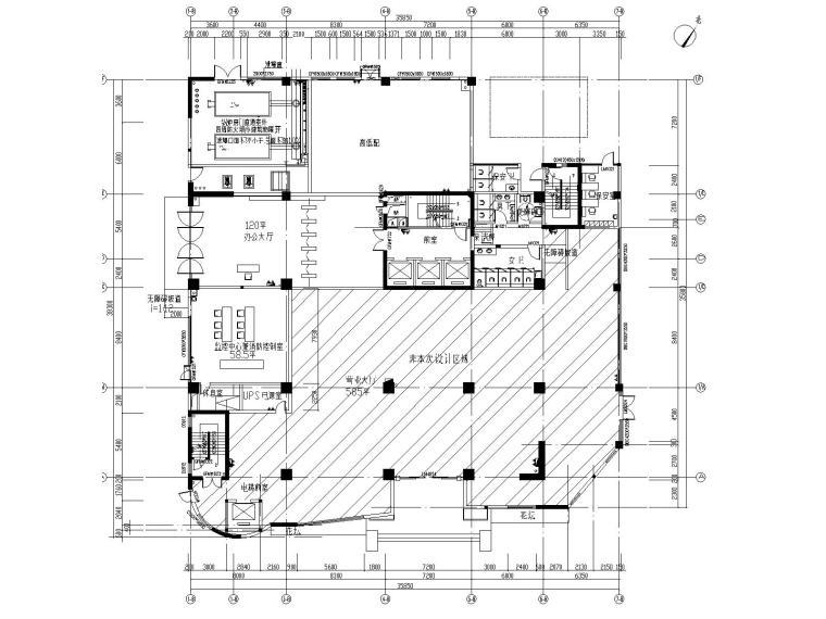 [贵州]新华苑办公楼室内装修改造图纸含标文
