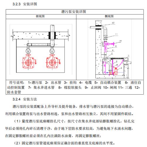 潜污泵安装