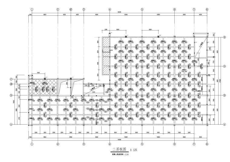 4层框架结构厂房结构施工图(2015)