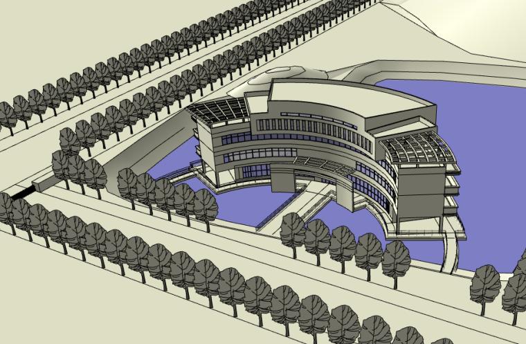 中学教学楼建筑设计模型