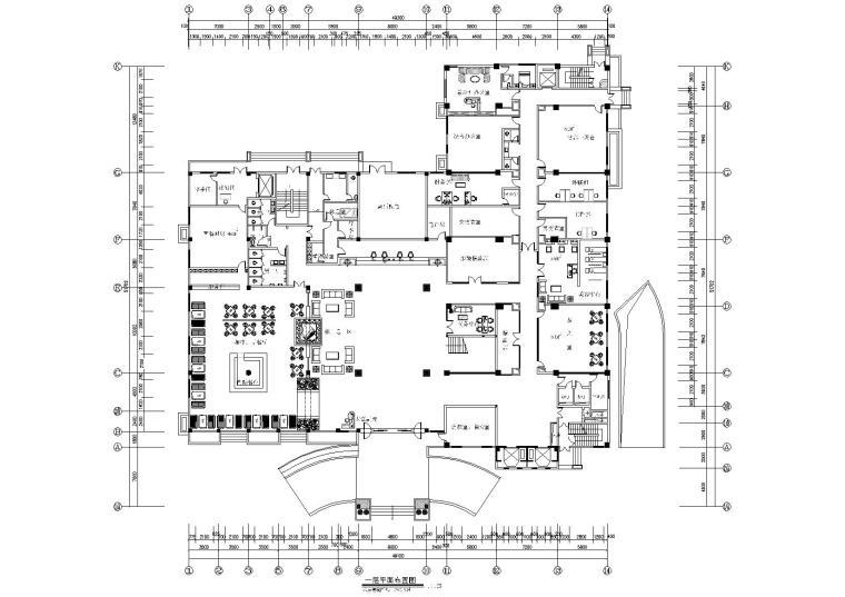 [福建]福州四星级国际大酒店装修工程施工图