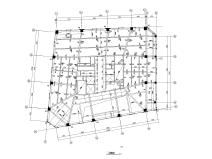 16層框架核心筒辦公大廈建筑結構施工圖2016