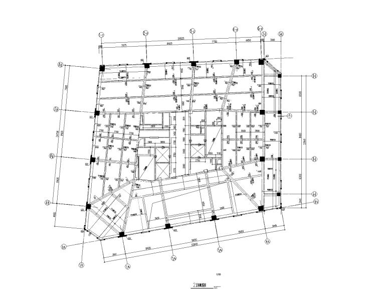 16层框架核心筒办公大厦建筑结构施工图2016