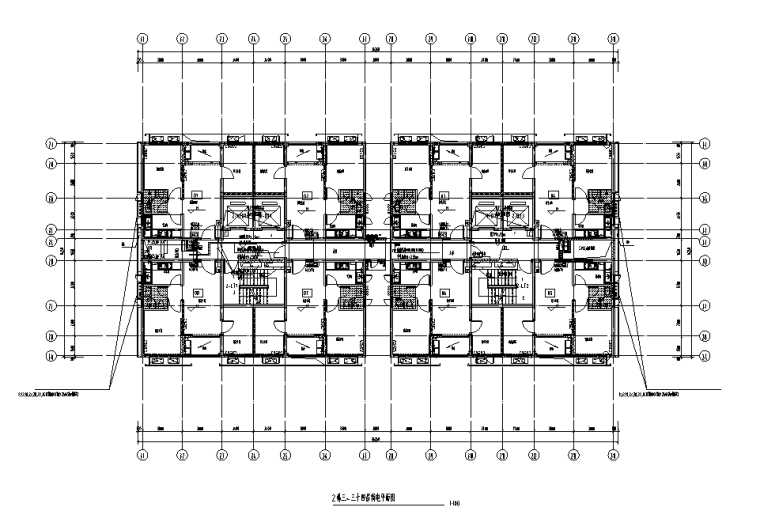 深圳高层公寓楼及配套商铺电气施工图