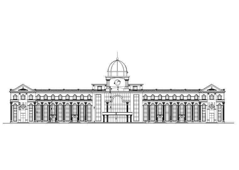 [天津]大港客运站设计建筑施工图_CAD