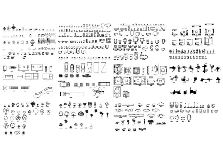 CAD建筑安装园林等综合性图块