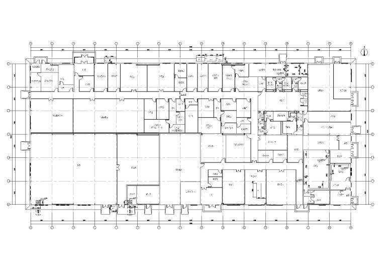 门式刚架结构质检中心厂房结构施工图纸