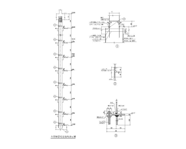 钢管砼柱大样及施工说明