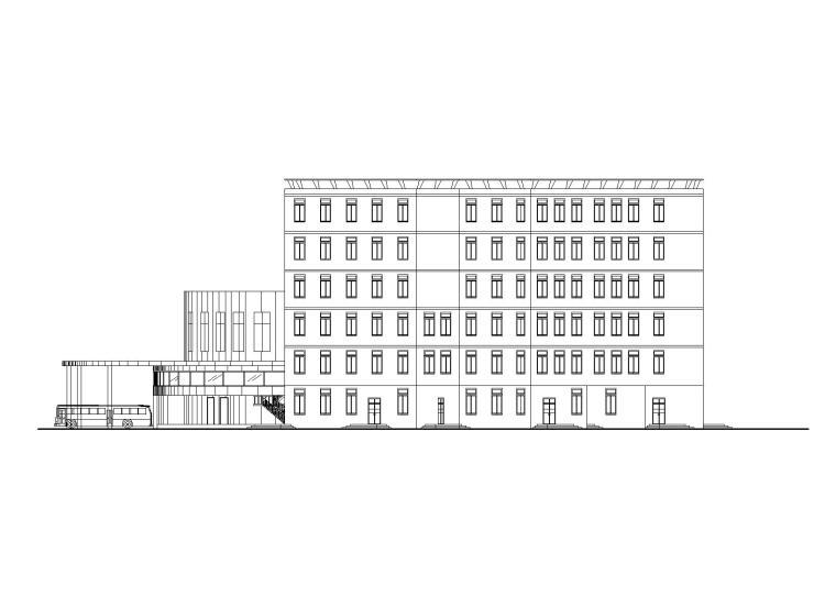 长途客运站建筑设计施工图_CAD